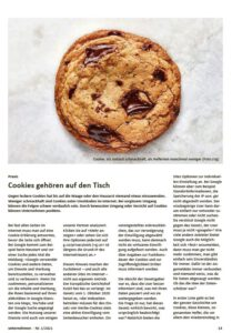 Cookies gehören auf den Tisch. Weniger schmackhaft sind Cookies unter Umständen im Internet.