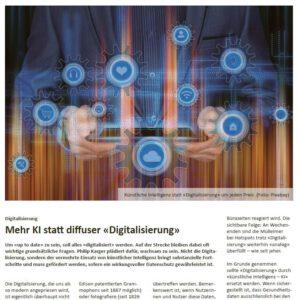 Mehr-KI statt diffuser Digitalisierung